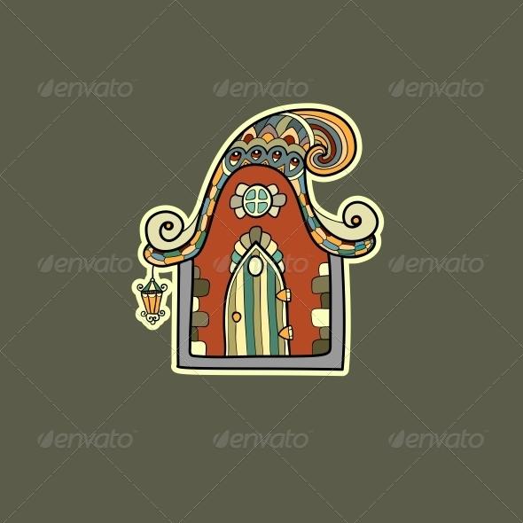 Ornate House Vector Illustration