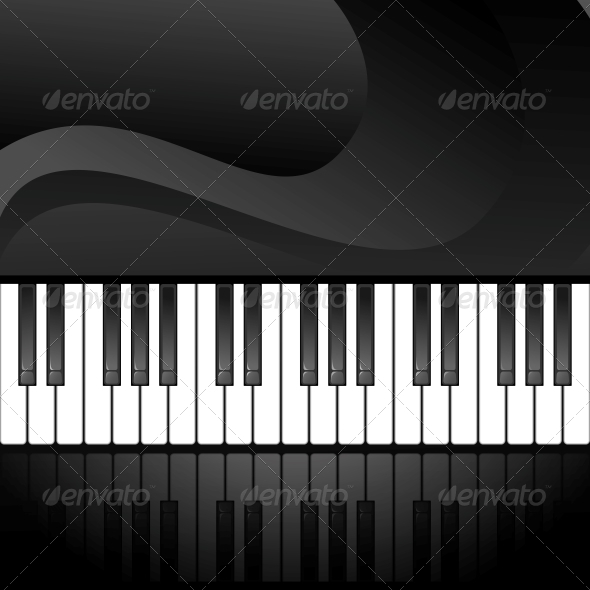 Abstract Background with Piano Keys