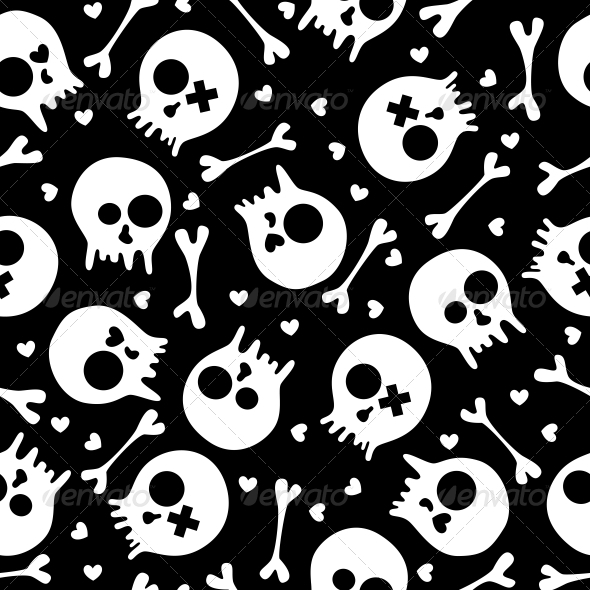 GraphicRiver Skulls Seamless Pattern 4944430