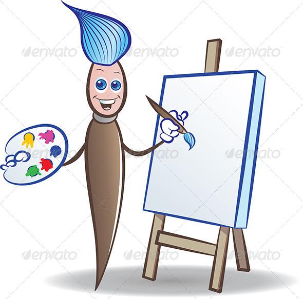 GraphicRiver Painter Mascot 4944769
