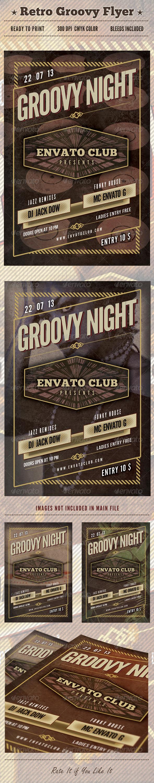 GraphicRiver Retro Groovy Flyer 4945029