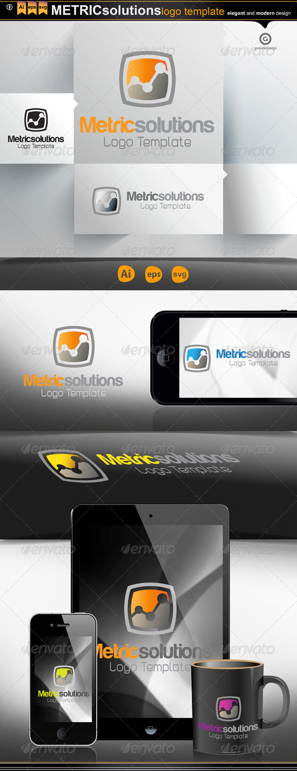 Metric Solutions - Logo Templates