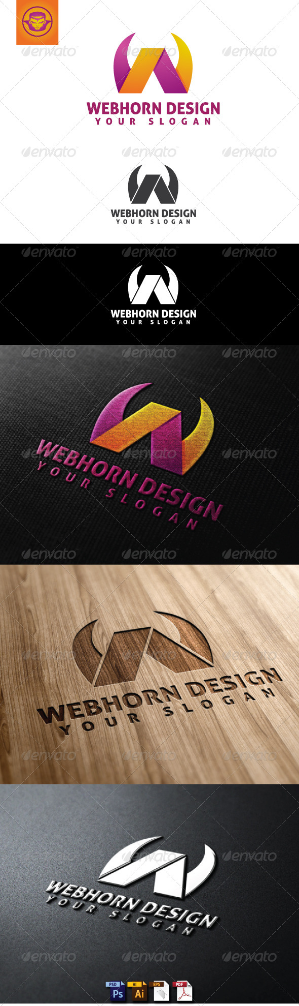 GraphicRiver Webhorn Design Logo Template 4945678