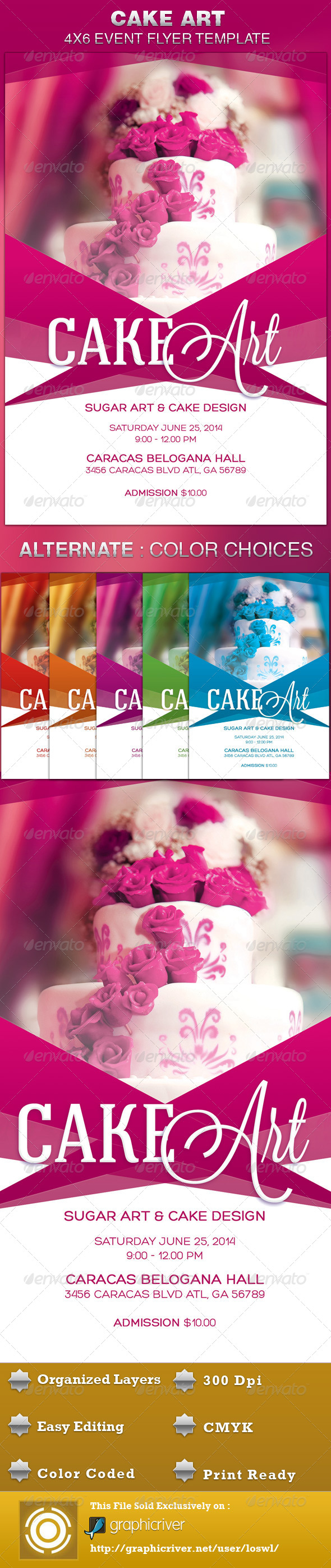 GraphicRiver Cake Art Event Flyer Template 4945744