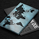 World Map Design Business Card - GraphicRiver Item for Sale