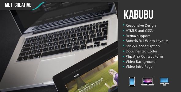 ThemeForest Kabubu Responsive Creative Business Personal Theme 4945878