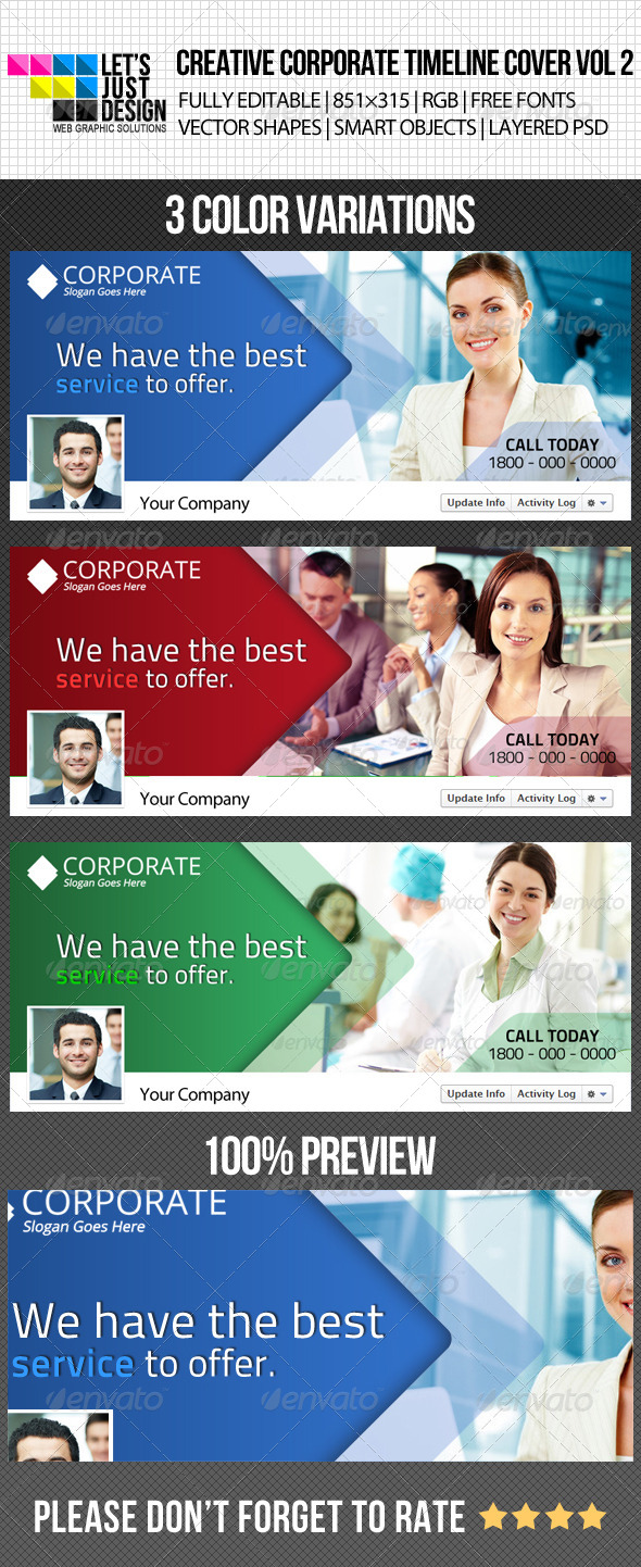 GraphicRiver Creative Corporate Facebook Timeline Cover Vol 2 4945898