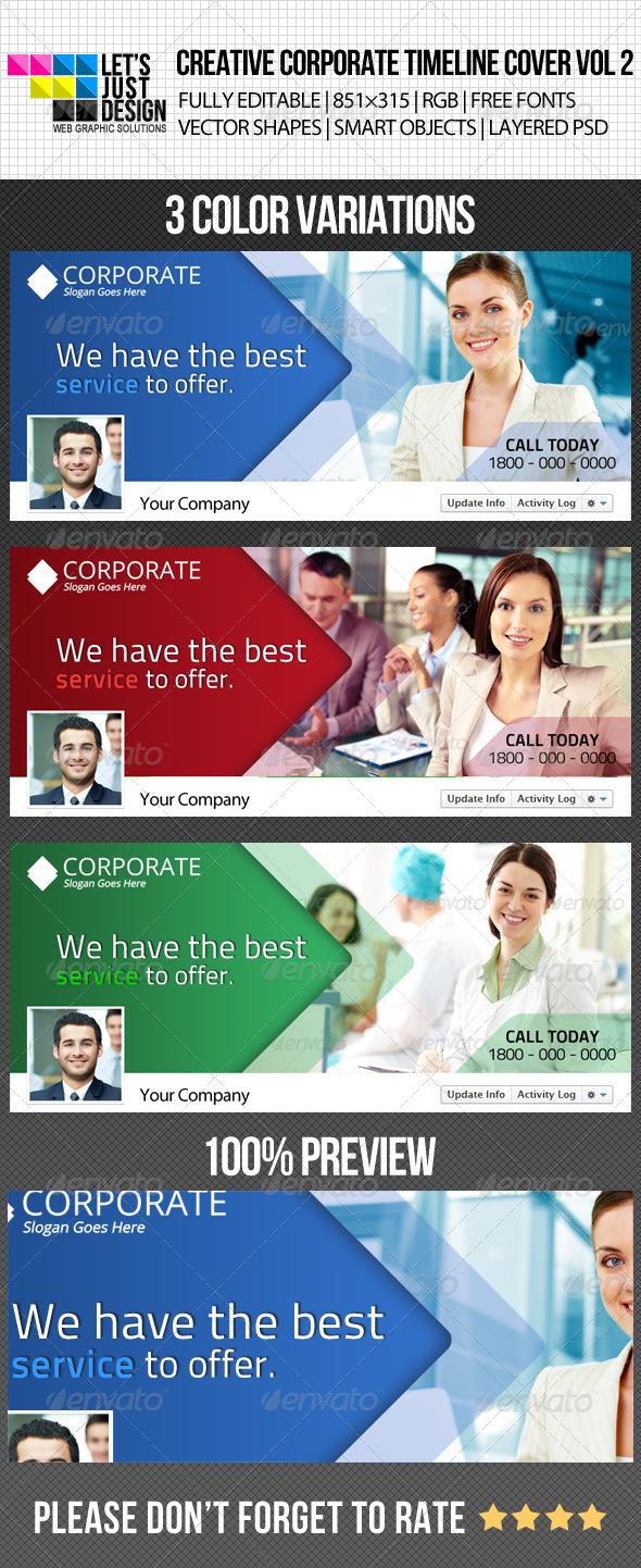 Creative Corporate Facebook Timeline Cover Vol 2