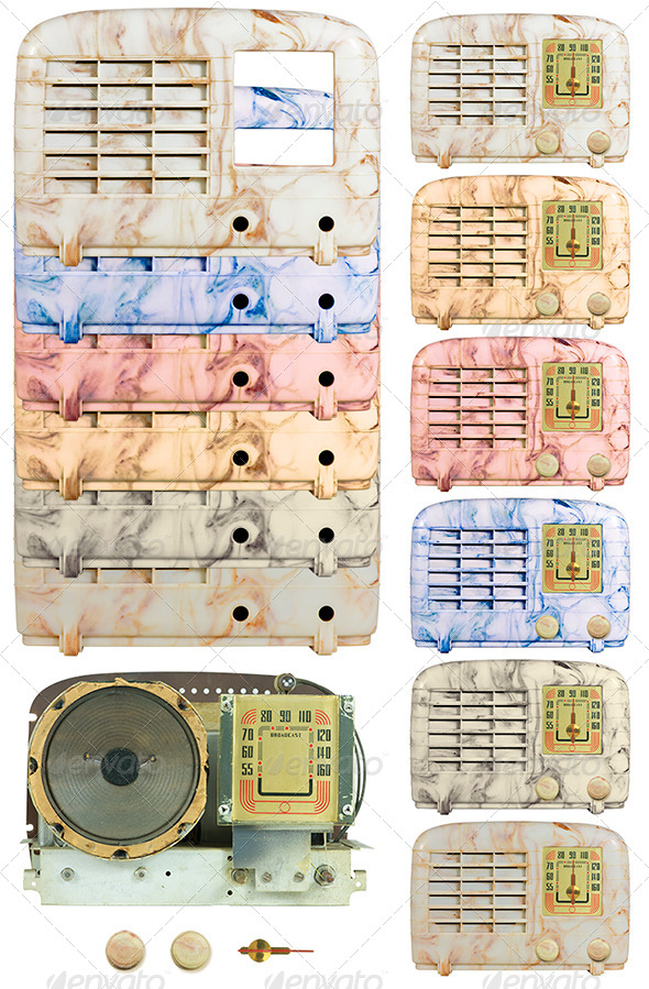 GraphicRiver Antique Bakelite Radio Parts 05 4945952