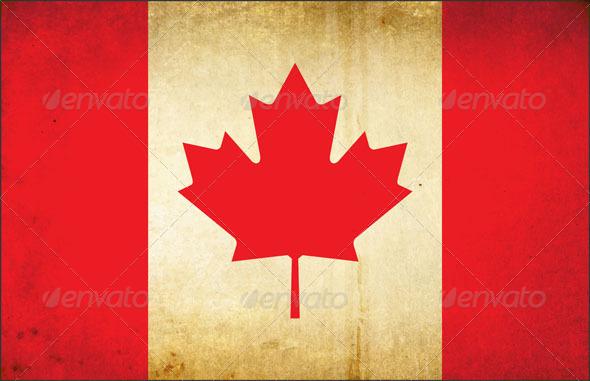 Grunge Dirty Canada Flag