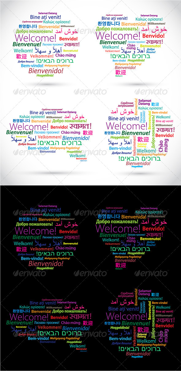 GraphicRiver Words Welcome in Different Languages 4935548