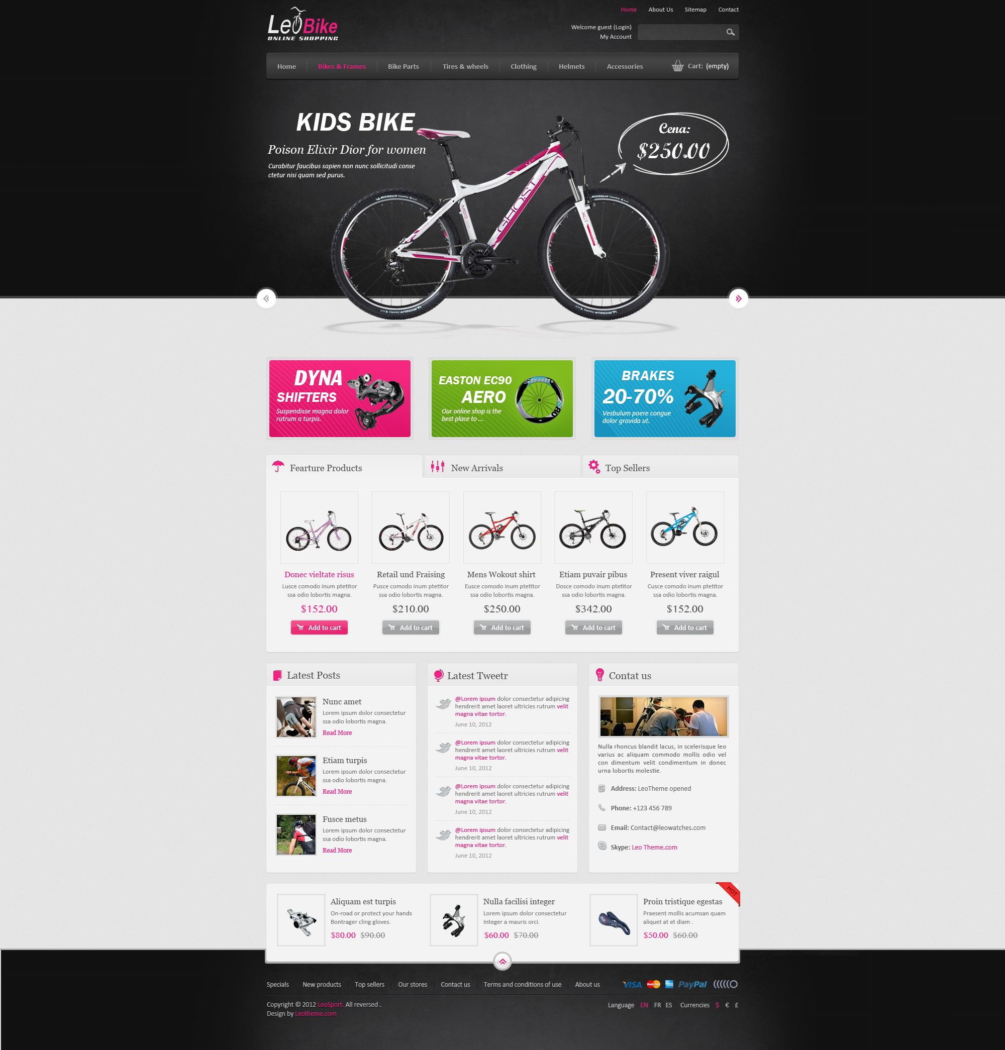 Leo Bike Prestashop Theme