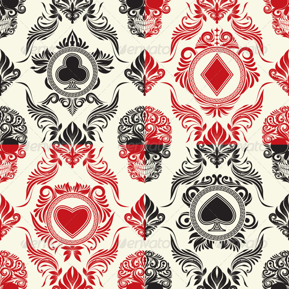 GraphicRiver Playing Card Pattern Set 4946955