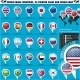 Round Pointer Flags World Top 25 States Set 1 - GraphicRiver Item for Sale