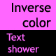 Inverse Color Text-shower - ActiveDen Item for Sale