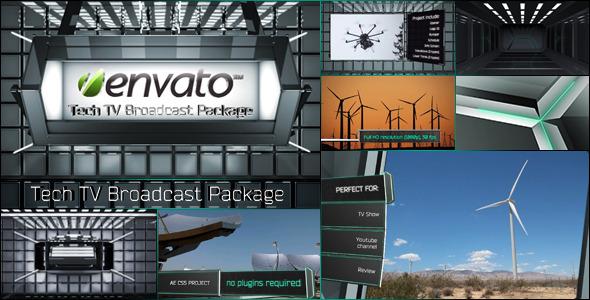 Videohive Tech TV Broadcast Package科技感效果电视广告包AE模板