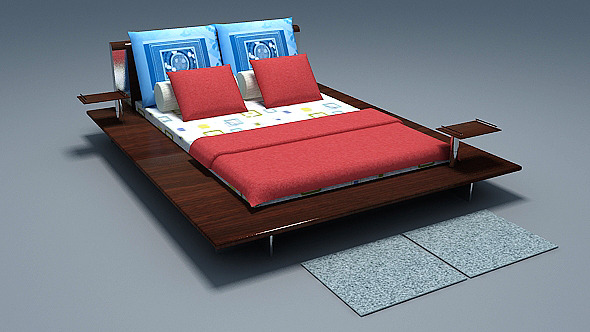 3DOcean Low poly Bed 4947723