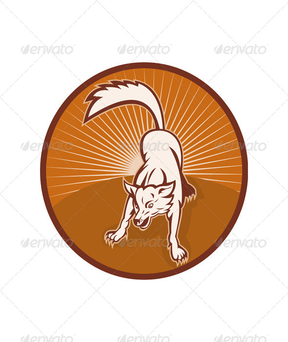 GraphicRiver Wild Dog Wolf Retro 4947768