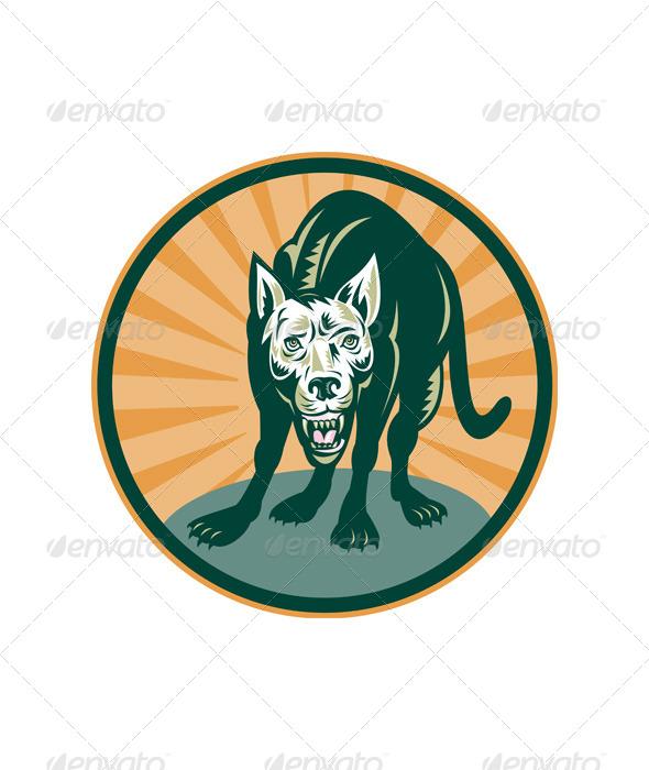 GraphicRiver Wild Dog Wolf Retro 4947775