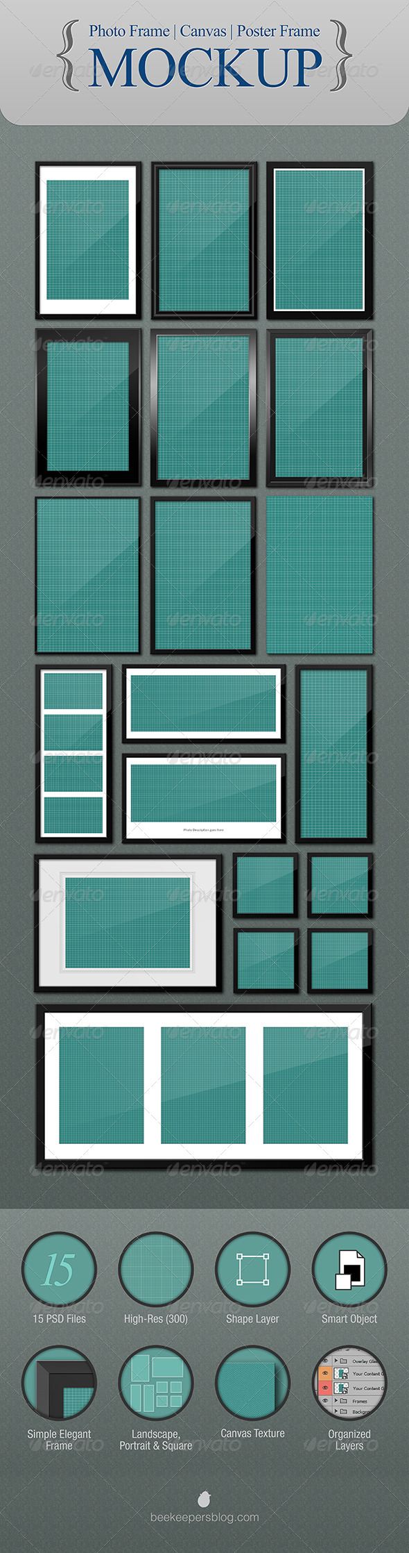 GraphicRiver Photo Canvas Poster Frame Mockup 4928729