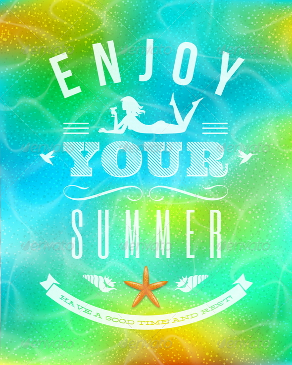 GraphicRiver Summer Holidays Lettering Emblem 4947814