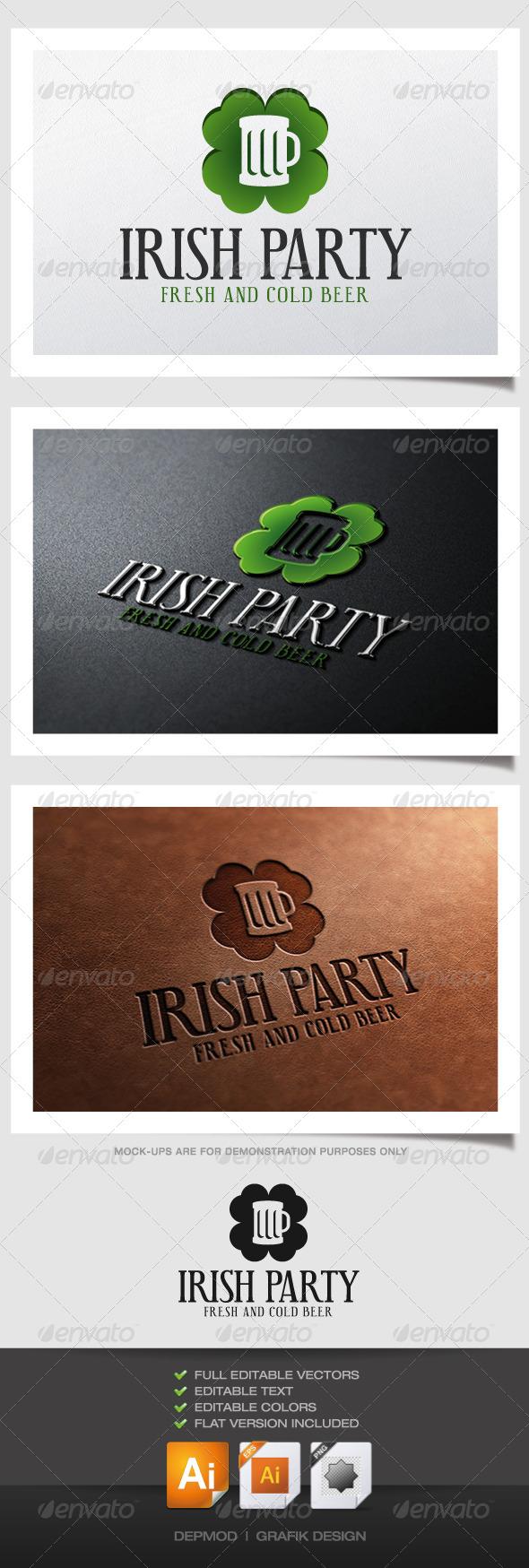 GraphicRiver Irish Party Logo 4943427