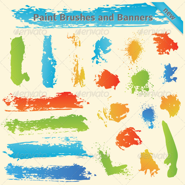 GraphicRiver Brushes and Paint Banners 4947857