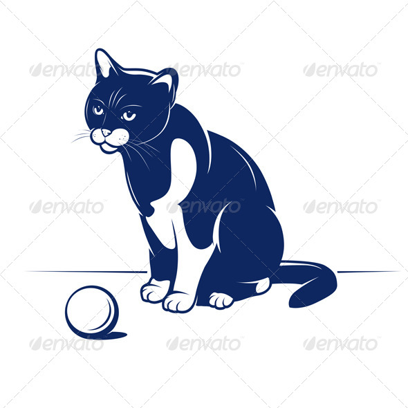GraphicRiver Cartoon Cheerful Cat 4947881