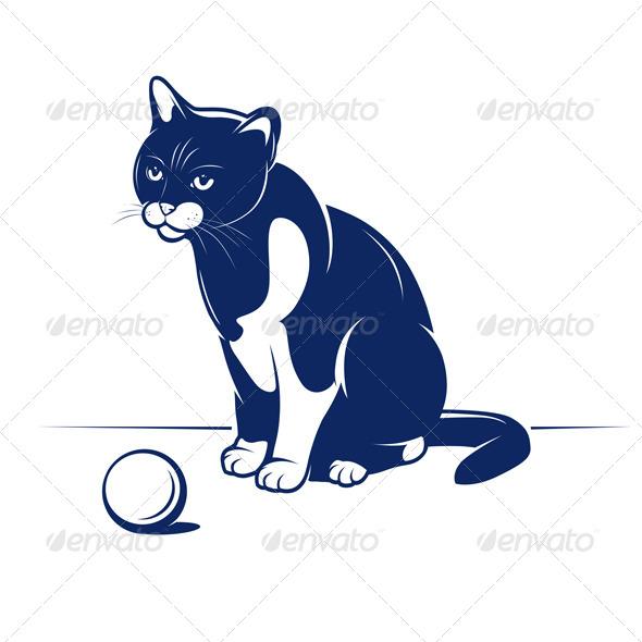 Cartoon Cheerful Cat