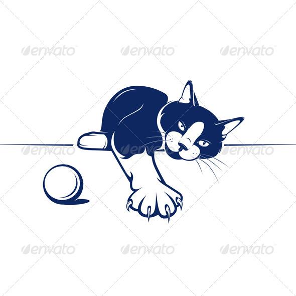 GraphicRiver Cartoon Relax Cat 4947922