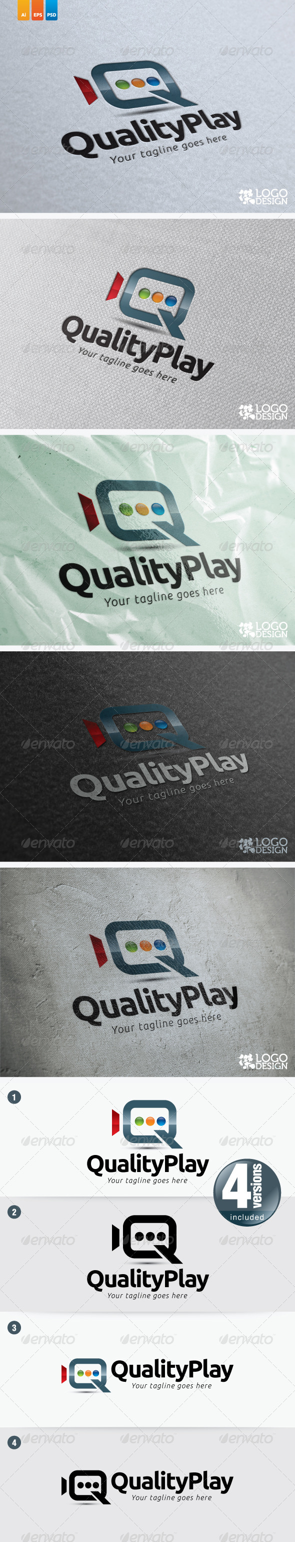 Quality Play - Objects Logo Templates