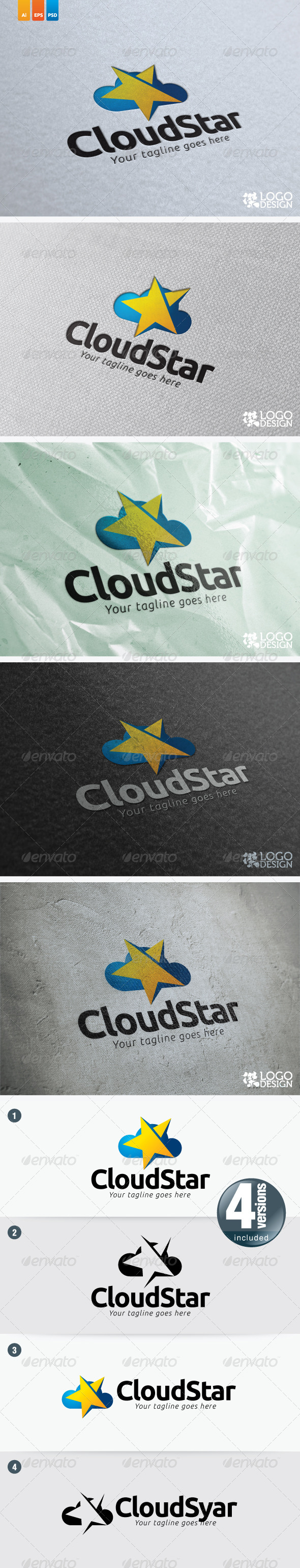 Cloud Star - Nature Logo Templates