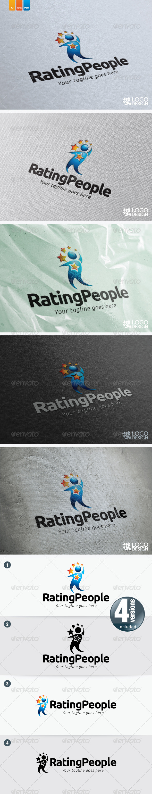 Rating People - Humans Logo Templates