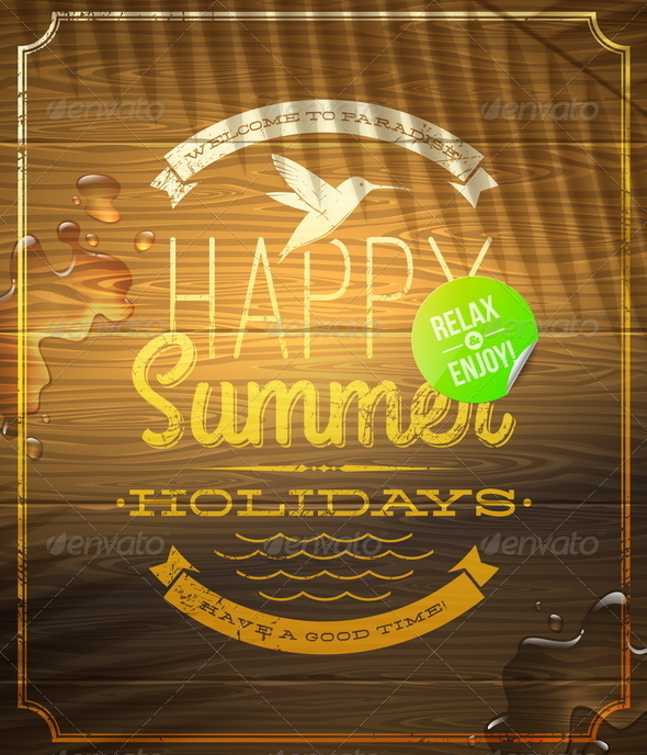 GraphicRiver Summer Holidays Lettering Emblem 4948055