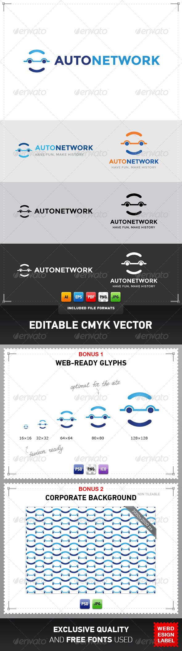 GraphicRiver Auto Network Logo 4948069