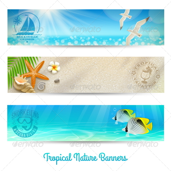 GraphicRiver Travel and Vacation Vector Banners 4948079