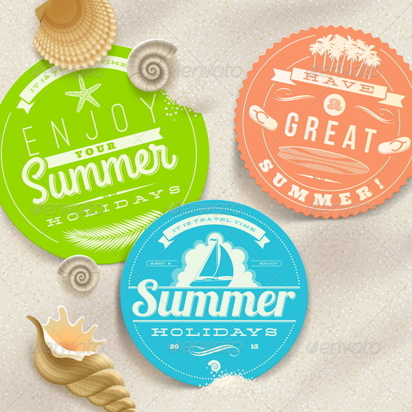 GraphicRiver Summer Vacation and Travel Labels 4948097