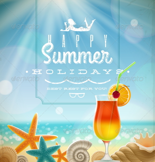GraphicRiver Summer Holidays Illustration 4948102