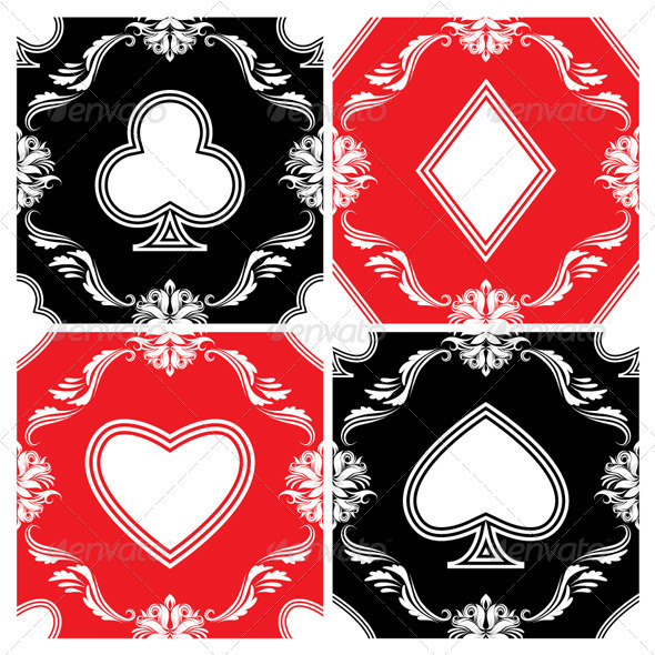 GraphicRiver Playing Card Ornamental Pattern 4948122