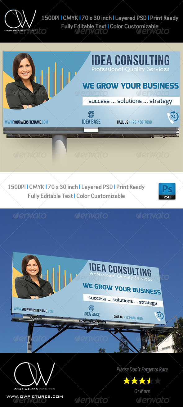 Corporate Business Billboard Template Vol.2 - Signage Print Templates