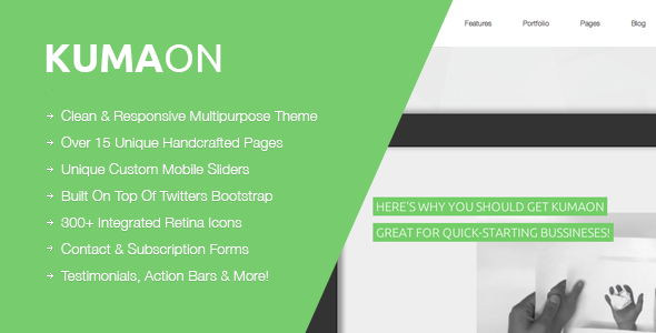 KUMAON, Clean Multipurpose WordPress Theme - Business Corporate