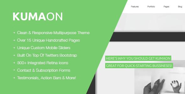 KUMAON, Clean Multipurpose WordPress Theme