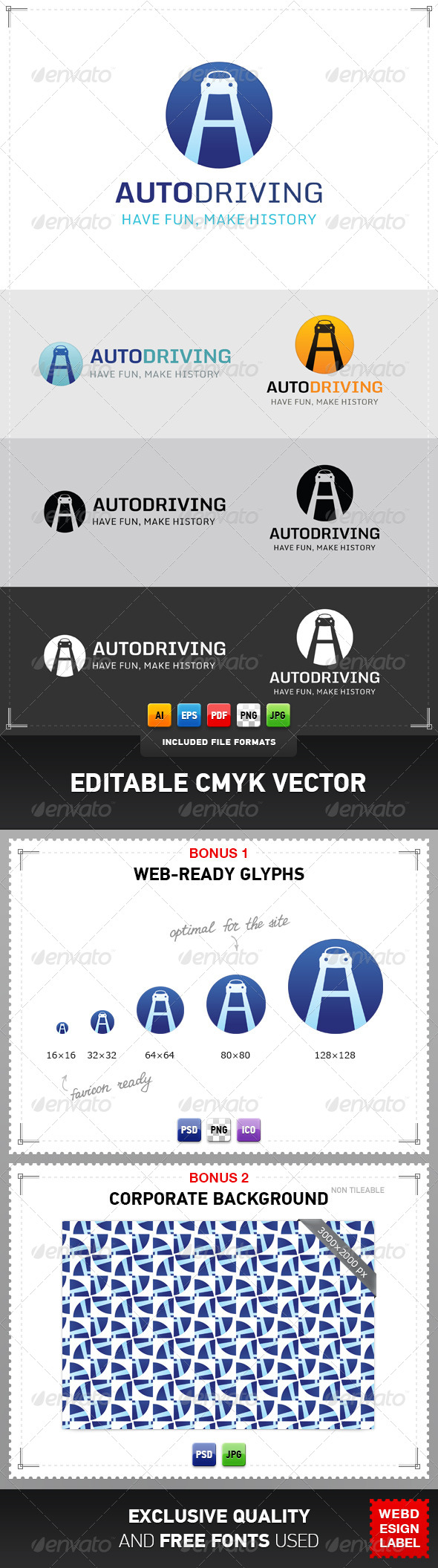 GraphicRiver Auto Driving Logo 4948351