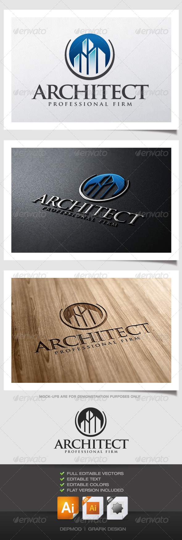 Architect Logo - Buildings Logo Templates