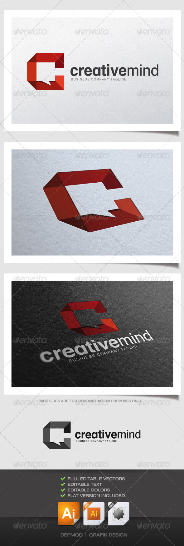 Creative Mind Logo - Abstract Logo Templates