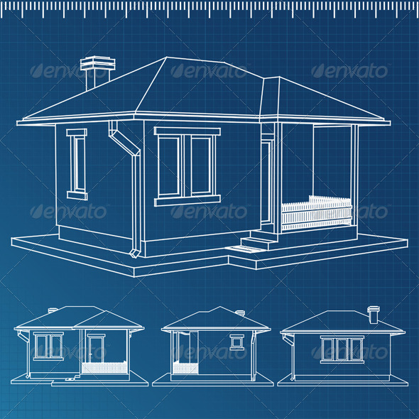 GraphicRiver House Blueprint 4948455