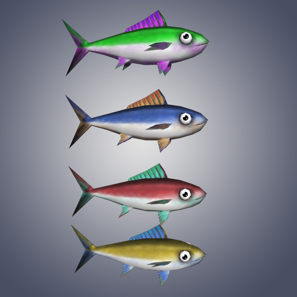 Low Poly Tuna Fish - 3DOcean Item for Sale