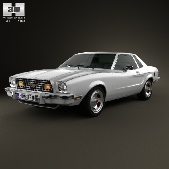 3DOcean Ford Mustang coupe 1974 4948477