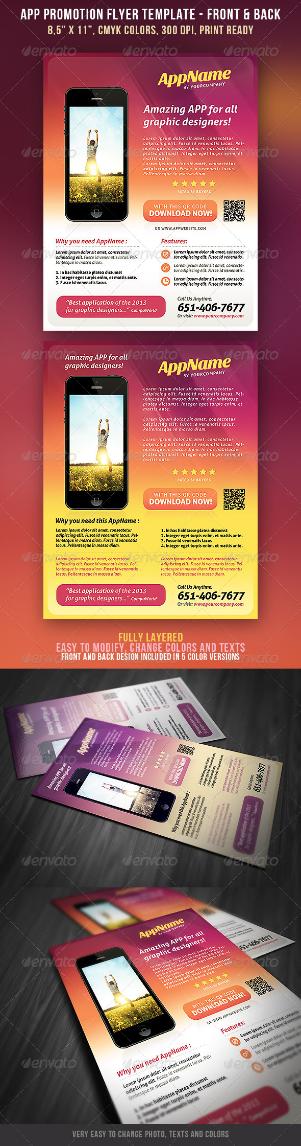 App Promotion Flyer 2 - Commerce Flyers