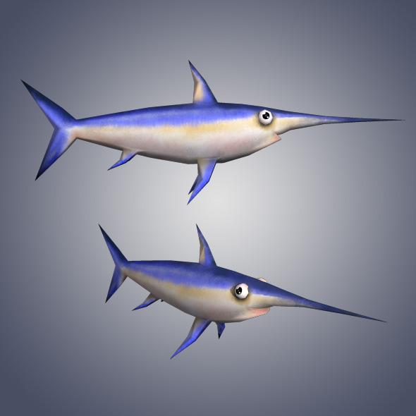 3DOcean Low Poly Sword Fish 4948486
